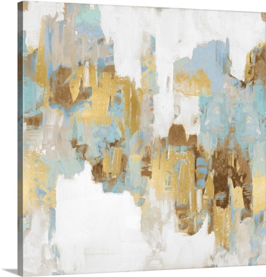 Abstract Spots Blue Gold II