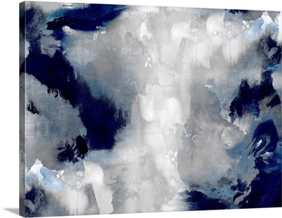 Abstract Stains Indigo 2