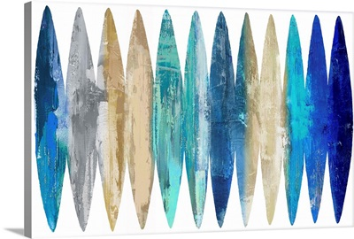 Abstract Surfboards Blue Tan