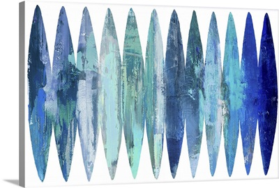 Abstract Surfboards Blues