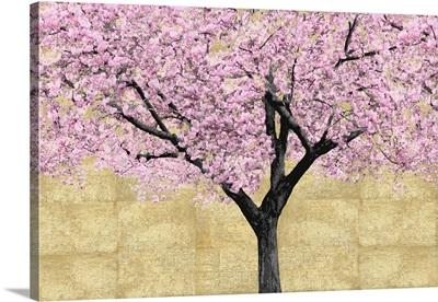 Cherry Blossoms Tree Blush Gold