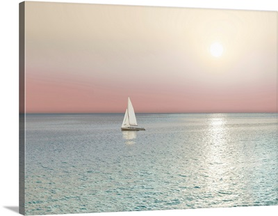 Ocean Reflection Sailboat