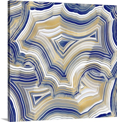 Stone Lines Blue Gold