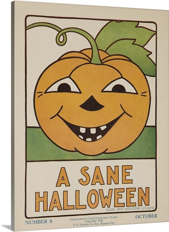 Halloween Wall Art 1932 american citizenship poster a sane halloween wall art, canvas