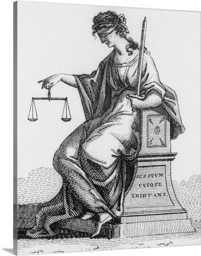 A Depiction Of Woman Holding Scales Justice Canvas