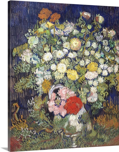 Bouquet Of Flowers In A Vase By Vincent Van Gogh Wall Art Canvas