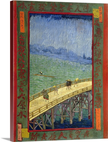 Bridge In The Rain (After Hiroshige) By Vincent Van Gogh Wall Art ...