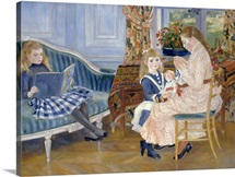 Children's Afternoon At Wargemont By Pierre-Auguste Renoir