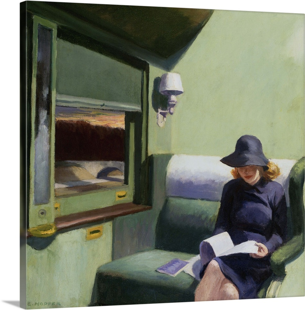 Compartment C Car 293 By Edward Hopper Wall Art Canvas