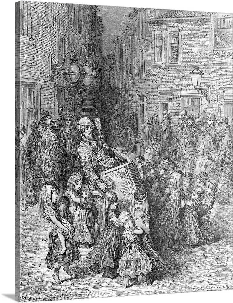 Confusion In Slums Caused By Industrial Revolution, London