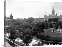 Connecticut State Capitol And Bushnell Park