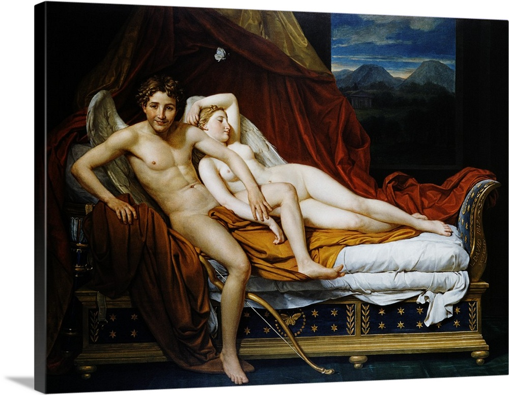 Jacques louis david cupid and psyche and