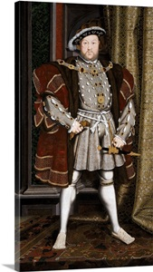 Full-Length Portrait Of King Henry Viii By Hans Holbein ...