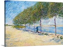 Langs De Seine (Along The Seine) By Vincent Van Gogh