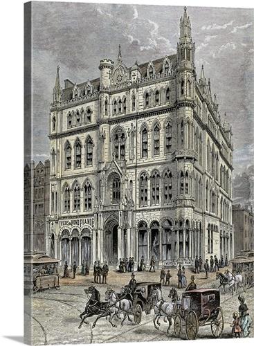 Masonic temple, Boston, United States, 1867 Wall Art, Canvas Prints ...