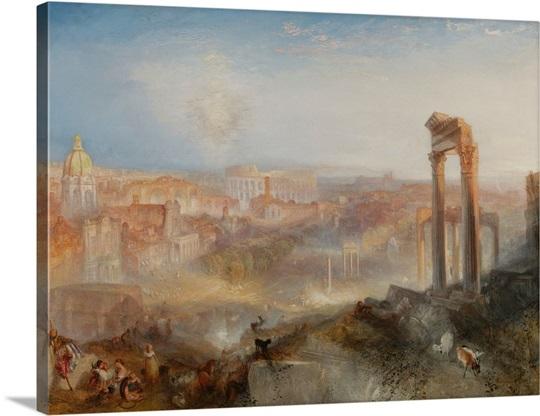 Modern Rome-Campo Vaccino By Joseph Mallord William Turner Wall Art ...