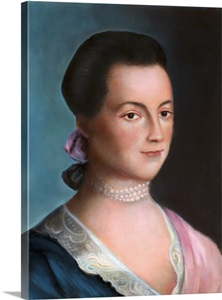 Portrait Of Abigail Adams After A Painting By Benjamin