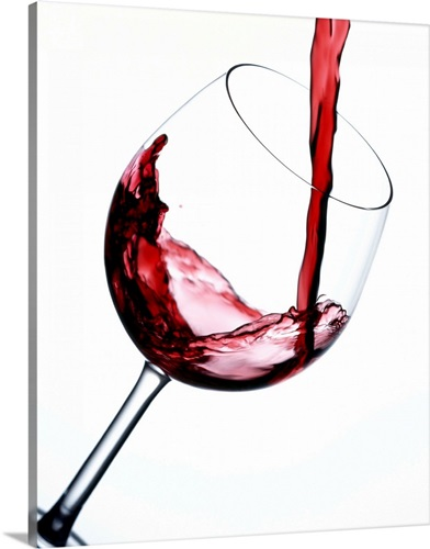 Pouring Red Wine Into Wine Glass Wall Art, Canvas Prints, Framed ...