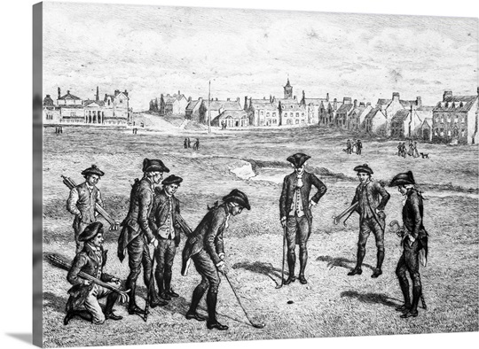 Royal and ancient golf players at St. Andrews, 1798 Wall Art, Canvas ...
