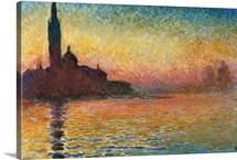 San Giorgio Maggiore At Twilight By Claude Monet