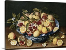 Still Life of Lemons, Oranges, and Pomegranates by Jacob van Hulsdonck
