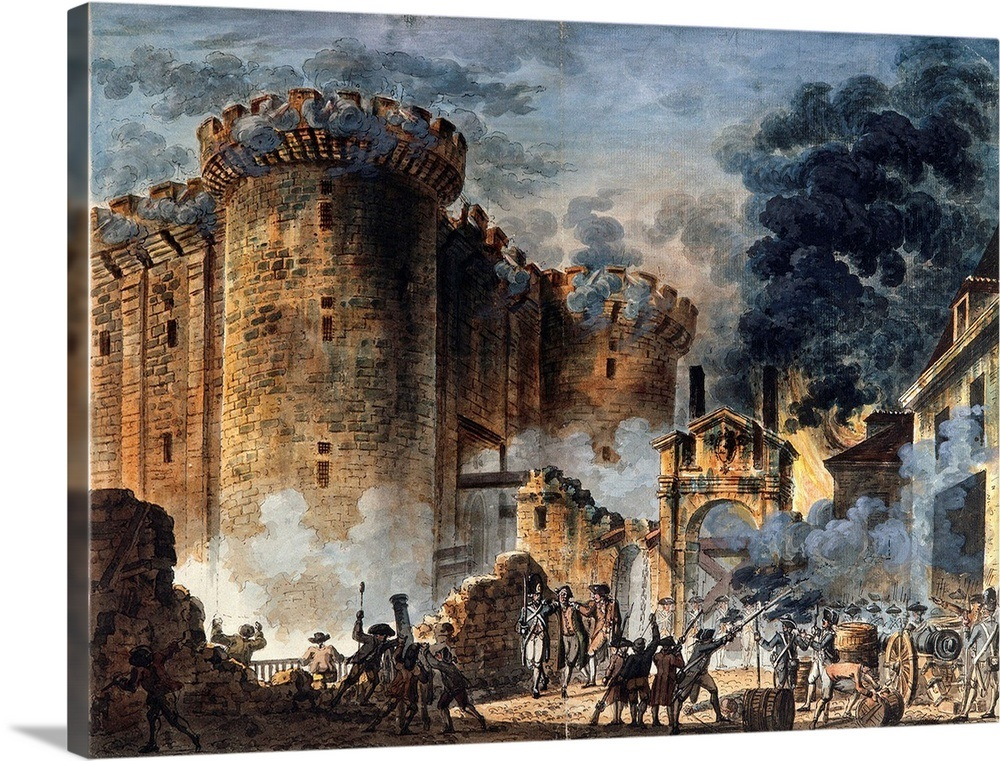 This is a graphic of Fan Storming Of The Bastille Drawing