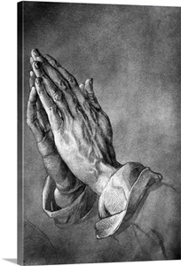 Study Of Praying Hands By Albrecht Durer Wall Art Canvas
