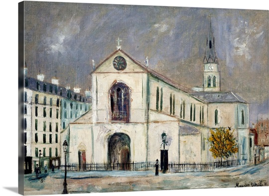 Notre Dame Wall Art the church notre dame de clignancourtmaurice utrillo wall art