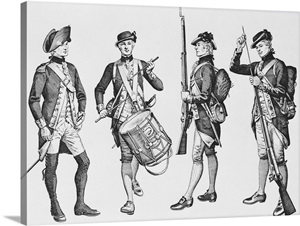The First Continental Marines recruited in 1775 for the