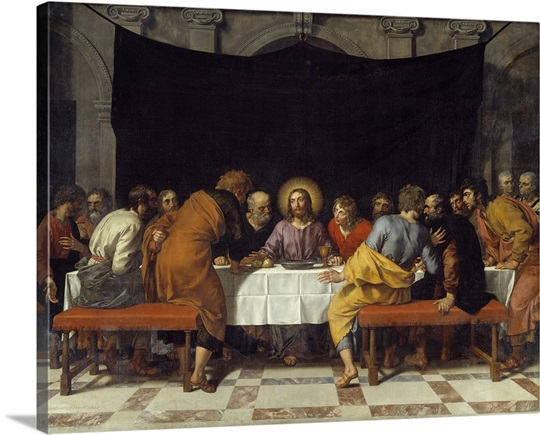 The Last Supper Wall Art the last supperfrans pourbus the younger wall art, canvas