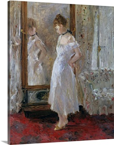 The Psyche Mirror By Berthe Morisot Wall Art Canvas
