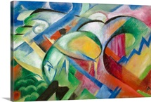 The Sheep By Franz Marc