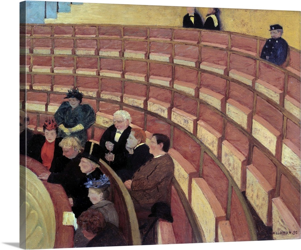 The third gallery at the Theatre du Chatelet by Felix Vallotton Wall ...