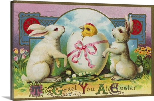 To Greet You At Easter Postcard Wall Art, Canvas Prints, Framed ...