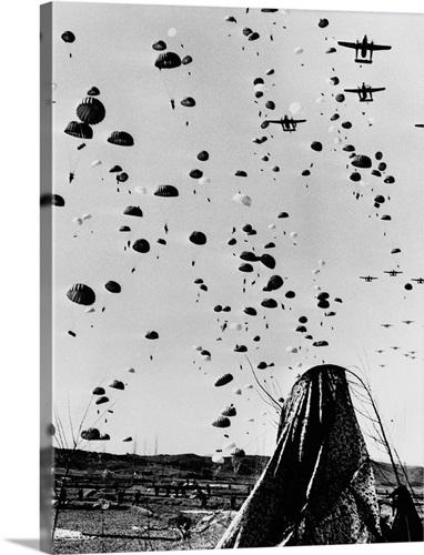 Troops Parachuting Into Korea Wall Art, Canvas Prints, Framed Prints ...