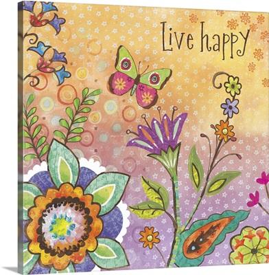 Boho Garden - Live Happy