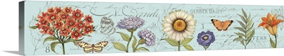 Botanical Floral Panel