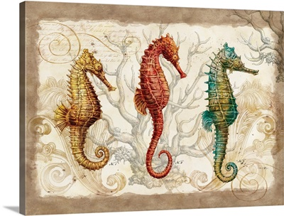 Botanical Seahorses