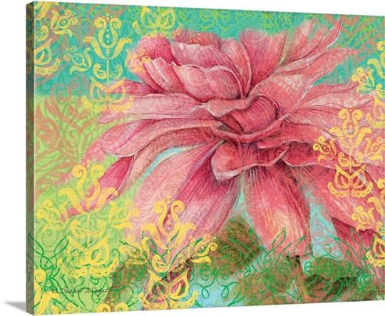 Bright floral pink flower wall art canvas prints framed prints bright floral pink flower canvas mightylinksfo