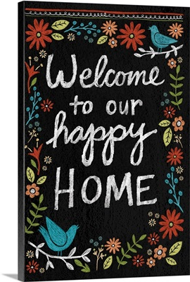 Chalkboard Florals - Welcome