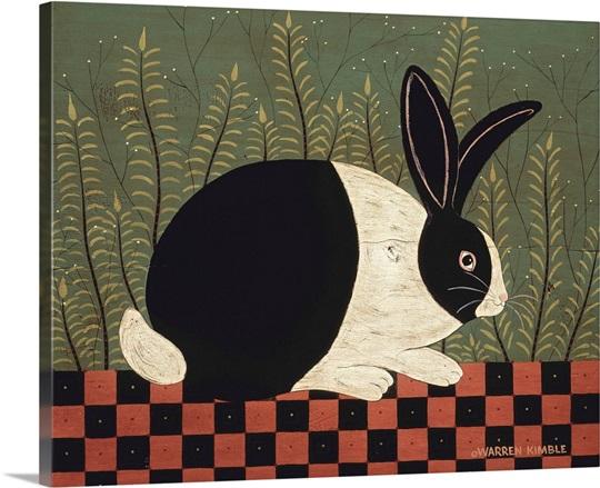 checkerboard bunny wall art canvas prints framed prints wall