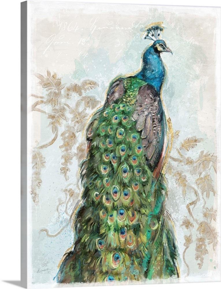 93965a3782 Classic Peacock Wall Art, Canvas Prints, Framed Prints, Wall Peels ...