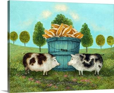 Corn Fed Pigs