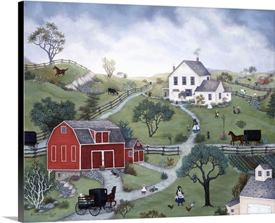 Country Side, Red Barn