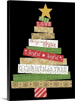 Cut Paper Christmas Tree