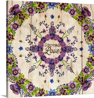 Floral Mandala - Spread Love
