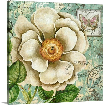 French Postcard - Floral