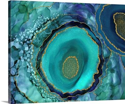 Geode Teal Circles