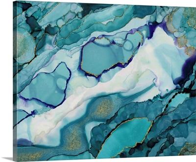 Geode Teal Patterns
