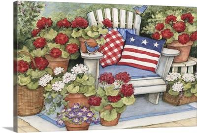 Geraniums on Porch